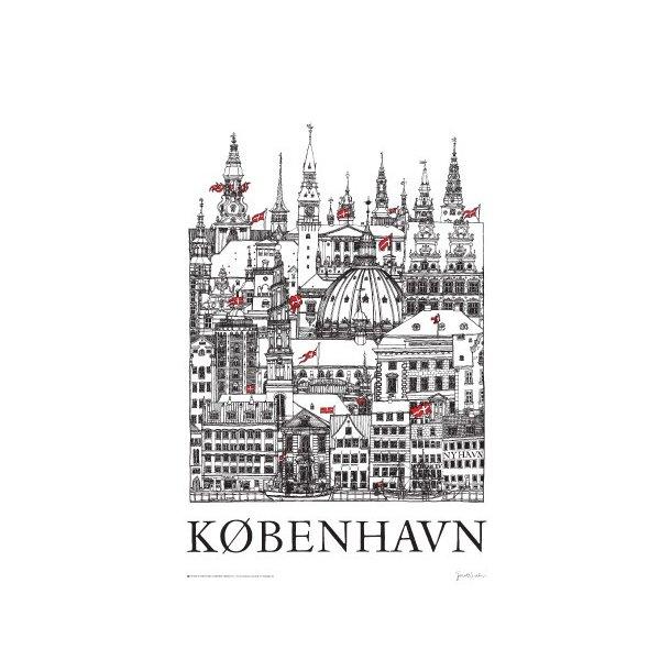 ''København'' - plakat af Jacob Sneum (plakat)