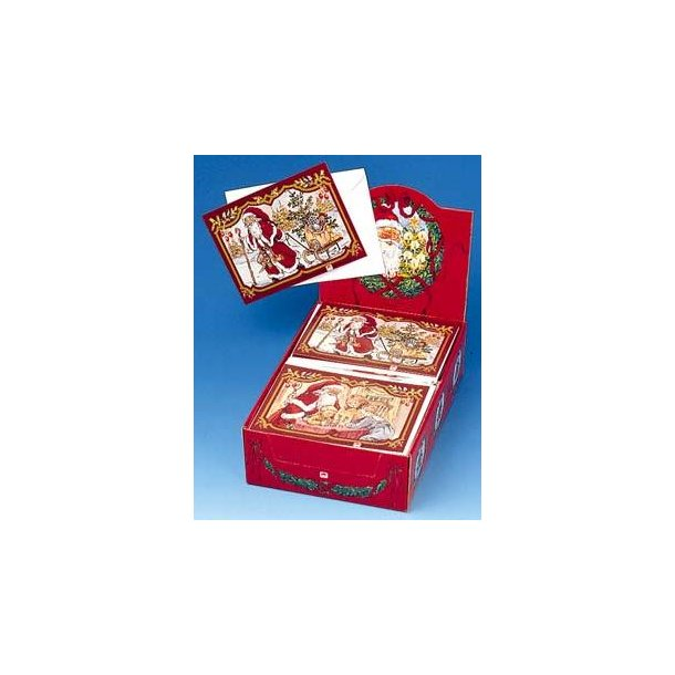 Julekalender-postkort, 2 stk. med kuvert