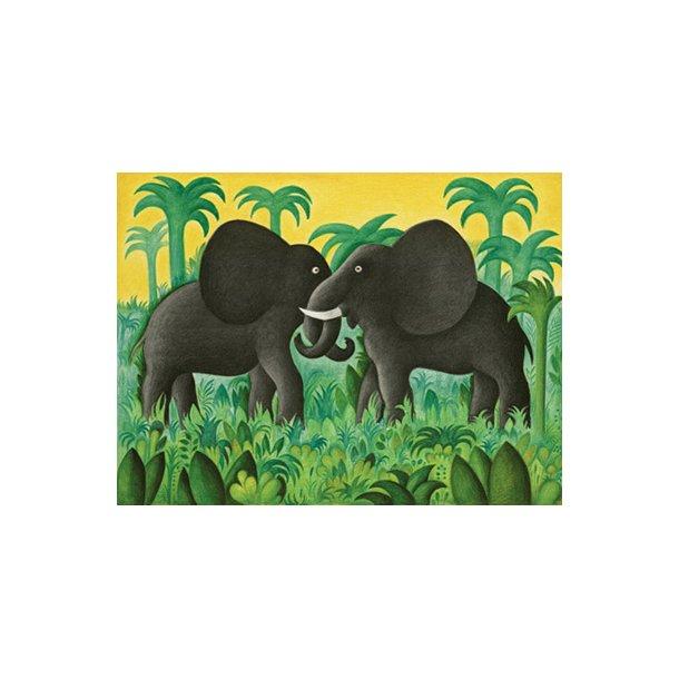 Et møde mellem to elefanter (Hans Scherfig plakat)