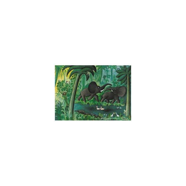 Elefanter ved junglesøen (Hans Scherfig plakat)