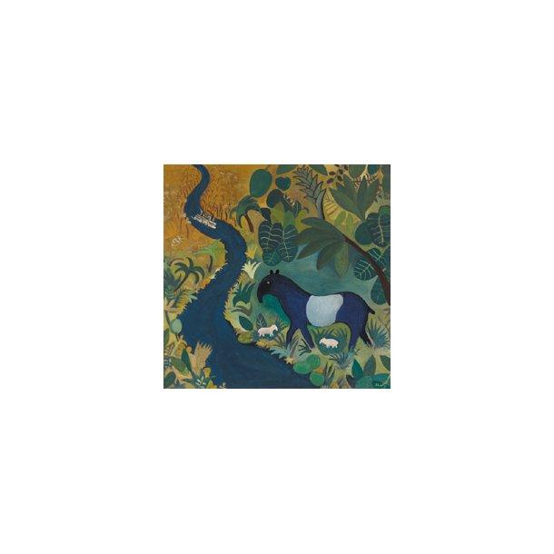En tapir ved Amazonasfloden (Hans Scherfig plakat)