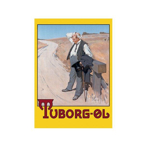 Plakat: Tuborgmanden (Den tørstige mand)
