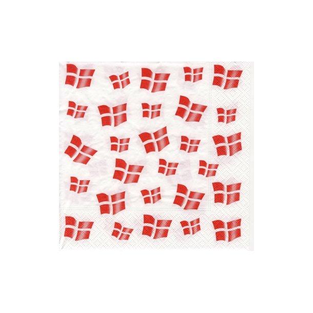 Dannebrog Servietter (Dansk flag)