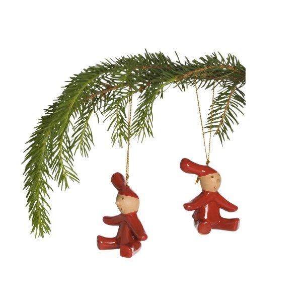 2 Pixy nissebørn til at hænge på juletræet.
